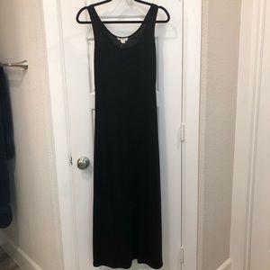 Forever 21 black cotton tank maxi dress